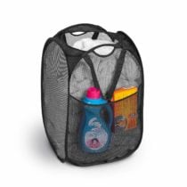 Popup Laundry Basket w/ Side Pocket