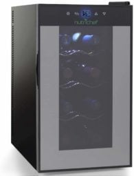 Nutrichef 8 Bottle Thermoelectric Wine Cooler Refrigerator