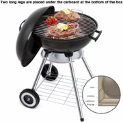 Portable Charcoal Grill for Outdoor Grilling