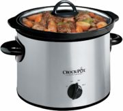 Crock-Pot SCR300-SS 3-Quart Manual Slow Cooker, Silver