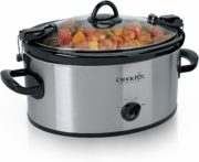 Crock-Pot Cook & Carry 6-Quart Oval Portable Manual Slow Cooker