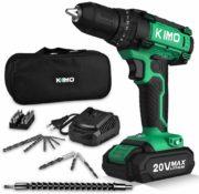 KIMO Cordless Drill Driver Kit, 20V Max Impact Hammer Drill